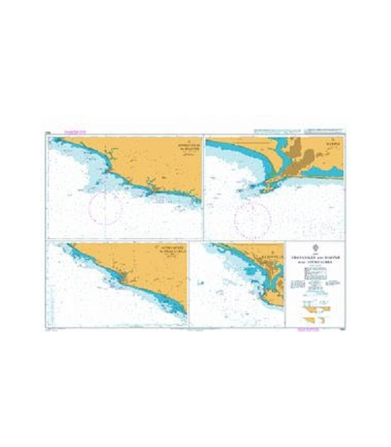 British Admiralty Nautical Chart 1980 Greenville and Harper with Approaches