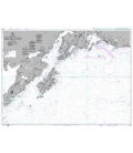 British Admiralty Nautical Chart 4976 Cape Saint Elias to Shumagin Islands
