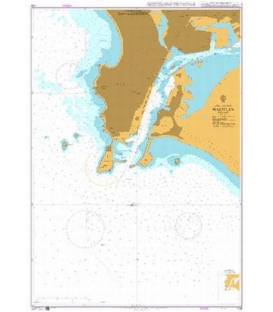 British Admiralty Nautical Chart 1106 Mazatlan