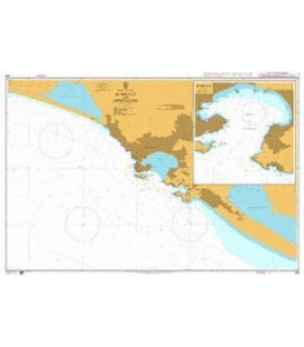 British Admiralty Nautical Chart 656 Acapulco and Approaches