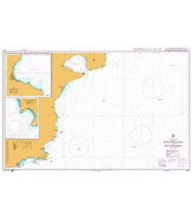 British Admiralty Nautical Chart 3331 Punta Delgada to San Gregorio