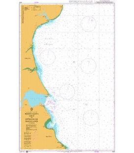 British Admiralty Nautical Chart 3335 Puerto Santa Cruz to Estrecho de Magallanes