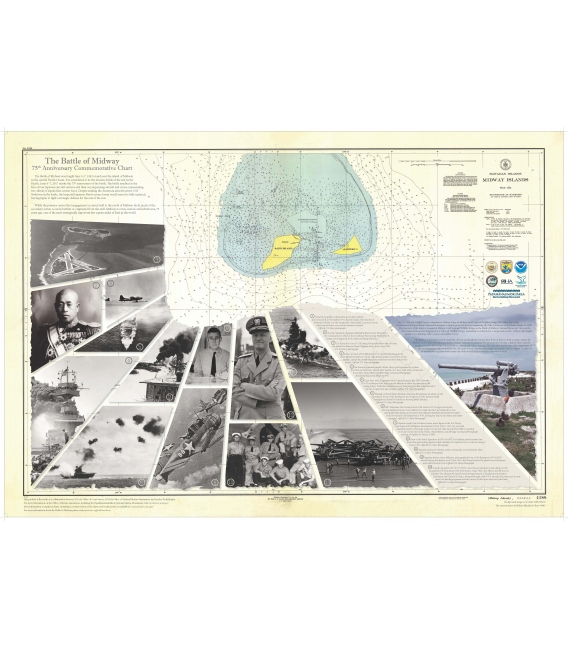 NOAA Chart 4188 Battle of Midway 75th Anniversary