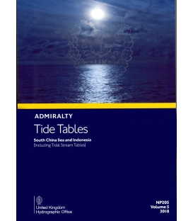 NP205 Admiralty Tide Tables (ATT) Volume 5, South China Sea and Indonesia (including Tidal Stream Tables), 2018 Edition