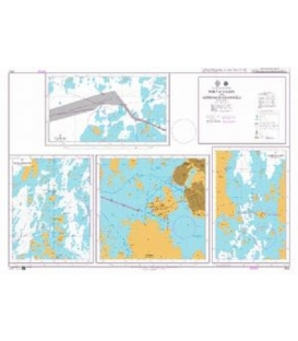 British Admiralty Nautical Chart 2612 Finland - Gulf of Bothnia, Port of Vaasa and Approach Channels