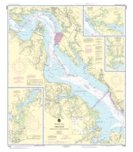 NOAA Chart 12248 James River Newport News to Jamestown lsland - Back River and College Creek