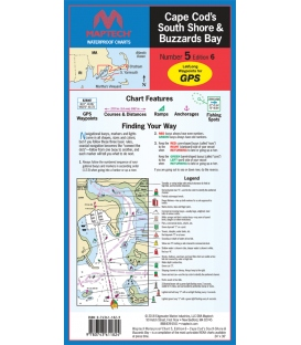 Maptech - Cape Cod's South Shore and Buzzards Bay, Waterproof Chart
