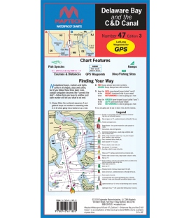 Maptech - Delaware Bay and the C and D Canal Waterproof Chart, 3rd Edition, 2018