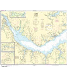 NOAA Chart 11552 Neuse River and Upper Part of Bay River