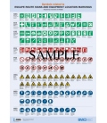 IMO I988E Poster: Symbols related to Escape Route Signs and Equipment Location Markings, 2018 Edition