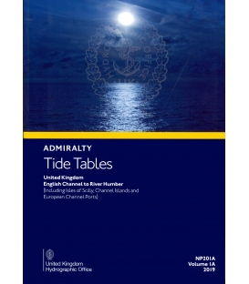 NP201A Admiralty Tide Tables (ATT) Volume 1A, United Kingdom English Channel to River Humber, 2019 Edition