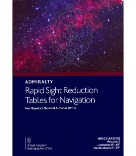 NP303(2) / AP3270(2) Rapid Sight Reduction Tables for Navigation Volume 2 Latitudes 0°-40° Declinations 0°-29°, 2018 Edition