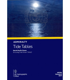 NP206 Admiralty Tide Tables (ATT) Volume 6 North Pacific Ocean (Including Tidal Stream Tables), 2019 Edition