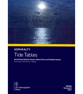 NP208 Admiralty Tide Tables (ATT) Volume 8 South East Atlantic Ocean, West Africa and Mediterranean, 2019 Edition