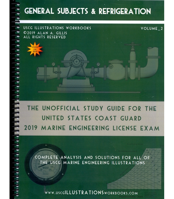 USCG Illustrations Workbook, Volume 2 (General Subjects & Refrigeration) 2019