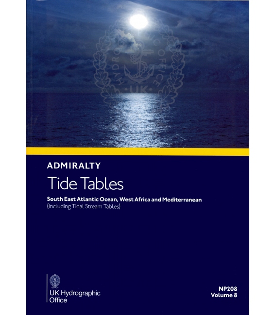 NP208 Admiralty Tide Tables (ATT) Volume 8 South East Atlantic Ocean, West Africa and Mediterranean, 2020 Edition