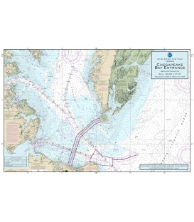 "11x17"" Laminated Placemat (Chesapeake Bay Entrance)"