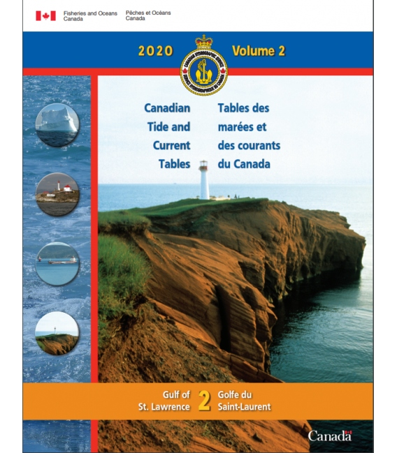 Canadian Tide and Current Tables Volume 2 Gulf of St. Lawrence, 2020 Edition