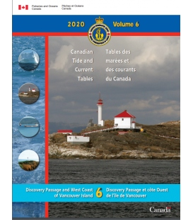 Canadian Tide and Current Tables, Volume, 6 Discovery Passage and West Coast of Vancouver Island (2020 Edition)