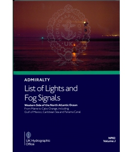 NP82 Admiralty List of Lights and Fog Signals Volume J: Western Side of North Atlantic Ocean from Maine to Cabo, 2019/20 Ed.