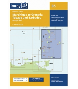 Imray Chart B5: Martinique to Grenada, Tobago and Barbados