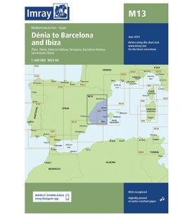 Imray Chart M13 Dénia to Barcelona and Ibiza, 2016 Edition