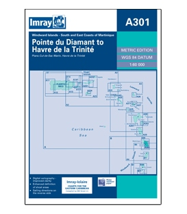Imray Chart A301: Pointe du Diamant to Havre de la Trinite (Trinité)