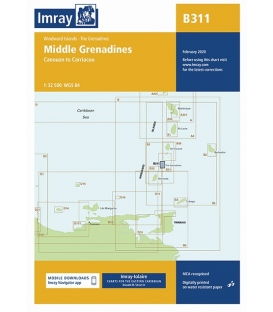 Imray Chart B311: Middle Grenadines Canouan to Carriacou