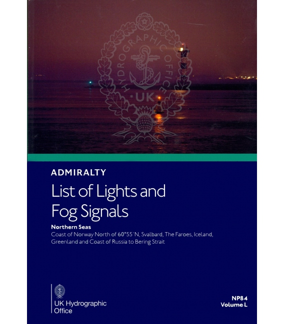 NP84 Admiralty List of Lights and Fog Signals Volume L: Northern Seas Coast of Norway north of Lat 60° 55'N, 2020/21 Edition