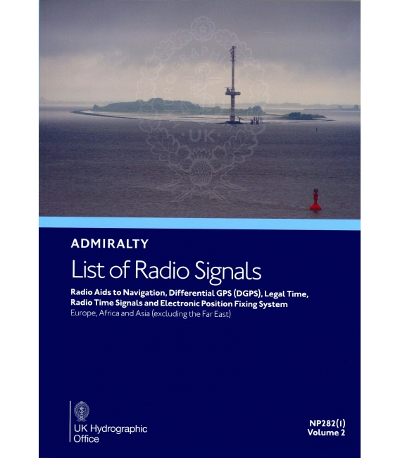NP282(1): Admiralty List of Radio Signals: Europe, Africa and Asia (excluding the Far East), 1st Edition 2020