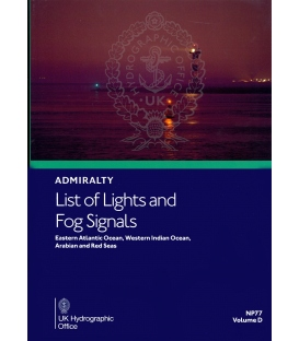 Admiralty List of Lights & Fog Signals NP77 Vol. D Eastern Atlantic O.,  Western Indian O.,  Arabian & Red Seas, 1st Ed 2020