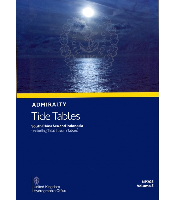 NP205 Admiralty Tide Tables (ATT) Volume 5, South China Sea and Indonesia (including Tidal Stream Tables), 2021 Edition