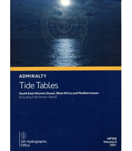 NP208 Admiralty Tide Tables (ATT) Volume 8 South East Atlantic Ocean, West Africa and Mediterranean, 2021 Edition