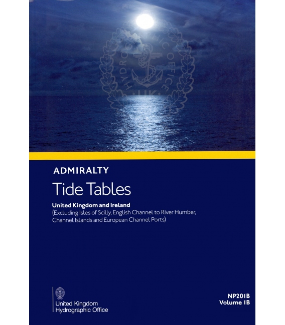 NP201B Admiralty Tide Tables United Kingdom and Ireland, 2022 Edition