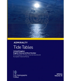 NP201A Admiralty Tide Tables (ATT) Volume 2, United Kingdom English Channel to River Humber, 2021 Edition