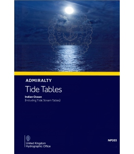 NP203 Admiralty Tide Tables (ATT) Volume 3, Indian Ocean and South China Sea (including Tidal Stream Tables), 2021 Edition