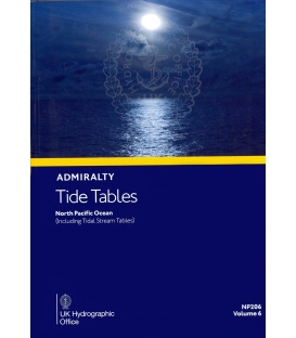 NP206 Admiralty Tide Tables (ATT) Volume 6 North Pacific Ocean (Including Tidal Stream Tables), 2021 Edition