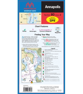 Maptech - Annapolis Waterproof Chart, 2nd Edition 2021