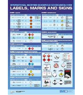 II223E - Wall Chart: IMDG Code Labels, Marks & Signs, 2020 Edition