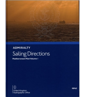 Admiralty Sailing Directions NP45 Mediterranean Pilot, Vol. 1, 17th Edition 2021