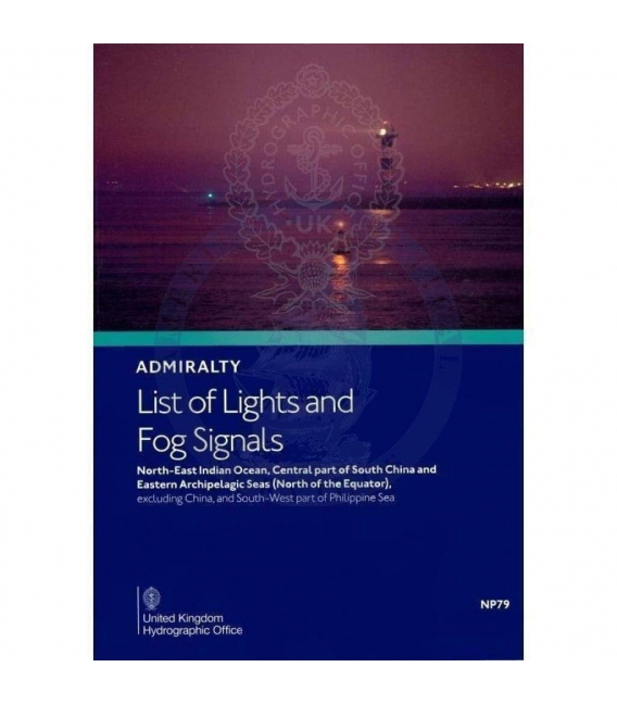 NP79 Admiralty List of Lights and Fog Signals Volume F: N.E. Indian Ocean, Central part of S. China & E. Archipelagic Seas, 2nd