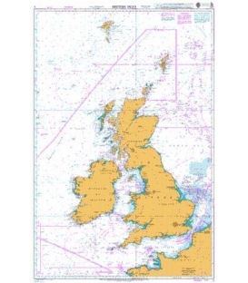 British Admiralty Nautical Chart 2 British Isles