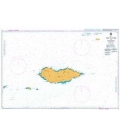 British Admiralty Nautical Chart 5 `Abd Al Kuri to Suqutra (Socotra)