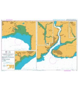 British Admiralty Nautical Chart 31 Harbours on the South Coast of Cornwall