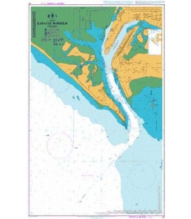 British Admiralty Nautical Chart 40 Karachi Harbour