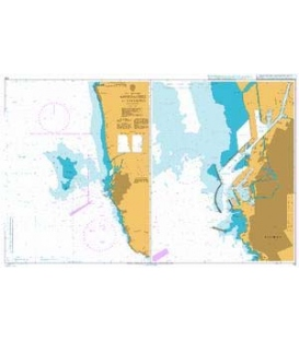 British Admiralty Nautical Chart 119 Approaches to Livorno