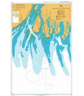 British Admiralty Nautical Chart 123 Approaches to Hugli River