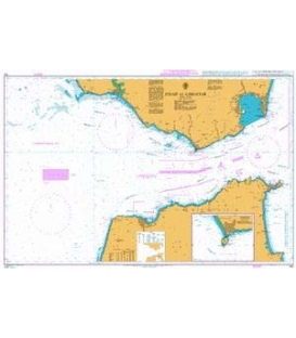 British Admiralty Nautical Chart 142 Strait of Gibraltar