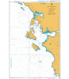 British Admiralty Nautical Chart 188 Entrance to the Adriatic Sea including Nisos Kerkira