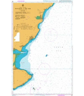 British Admiralty Nautical Chart 190 Montrose to Fife Ness including the Isle of May